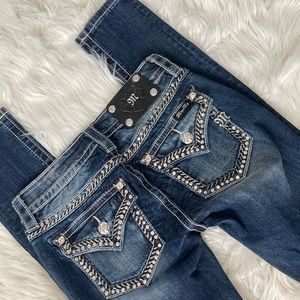 Miss Me Rhinestone Bootcut Jeans- Like New